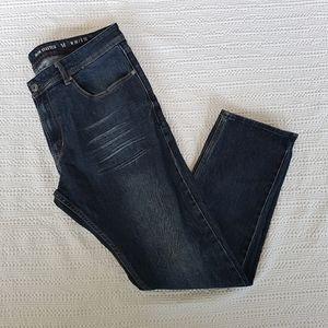 MBX Dark Denim Men's Jeans 38w x 32l slim stretch